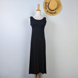 Vintage 90s Aesthetic Polka Dot Rayon Dress S 4